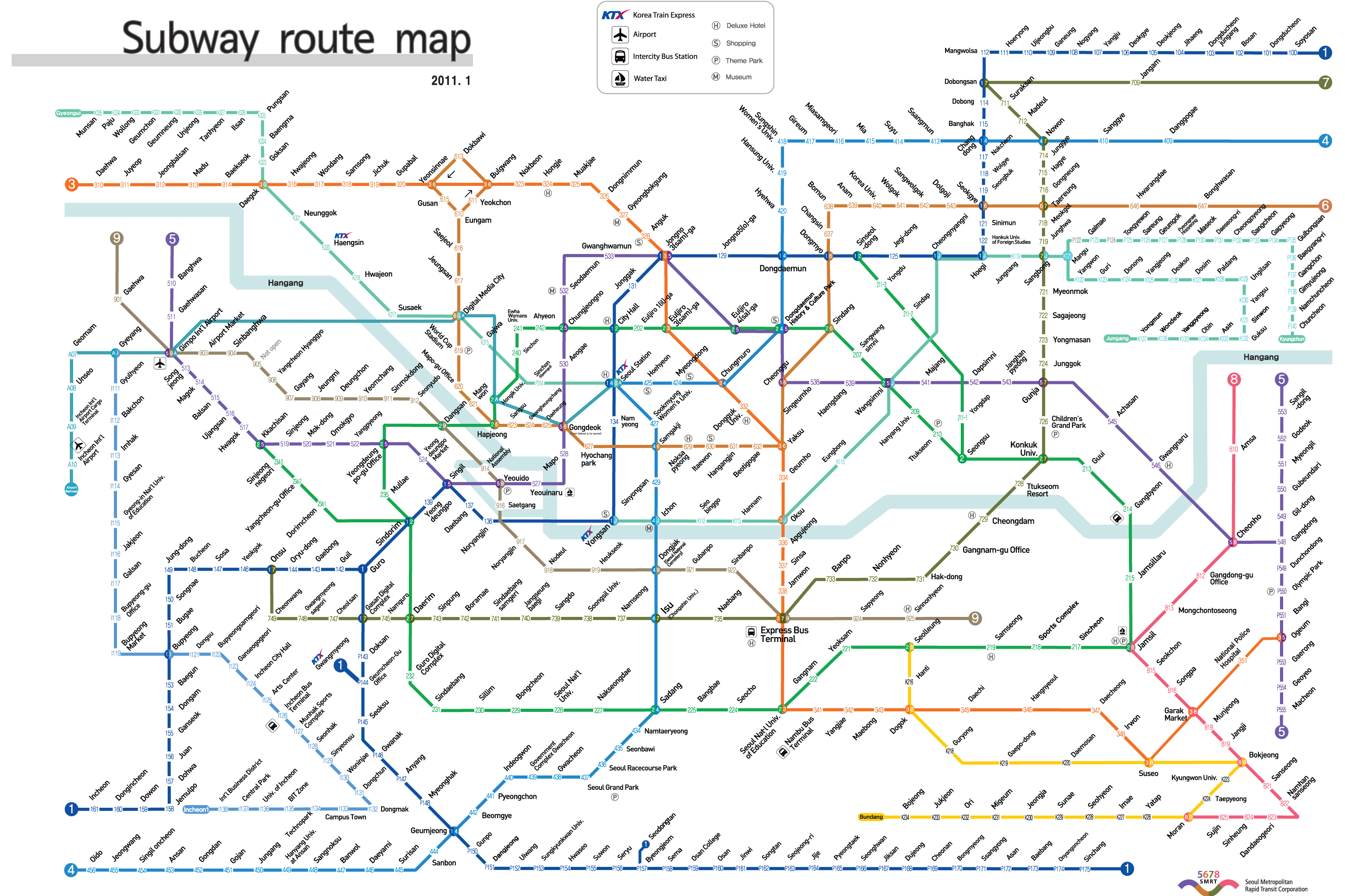 Map Of Seoul Subway System
